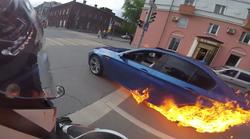VIDEO Ne gori samo Rimčev Concept S, usred vožnje zapalio se u ruskom Permu BMW M5