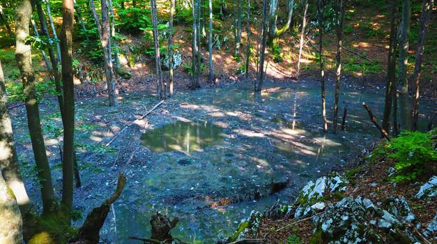GROZNO: Plitvičko jezero koje pliva u fekalijama odgovorni su jučer ogradili žicom, mrežama, trakom koja upozorava na visoki napon te uklonili natpise ekologe o ekocidu