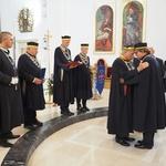 Josip Mrzljak, varaždinski biskup monsignor u slavu Boga i slavu vina primio u redove vitezova 9 novih članova (foto: romeo ibrišević)