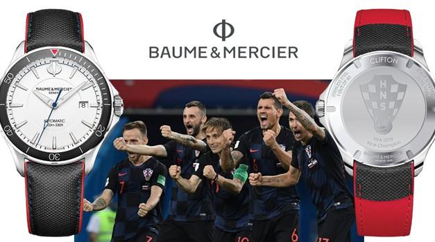 """Vatreni su na pravom mjestu i u pravo vrijeme i zbog toga je čuveni urar Baume & Mercier samo za njih proizveo 60 """"unikata"""""""