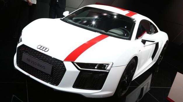 FRANKFURT 2017. Audi R8 V10 RWS - zabava u prvom planu