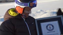 Postavljen novi Guinessov rekord: Jaguar XF vukao skijaša Grahama Bella 189 km/h