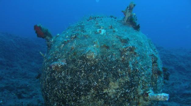 VIDEO Korčuli prijeti podvodna mina iz II. svjetskog rata, s promjerom 150 cm i s najmanje 50 kg razornog eksploziva