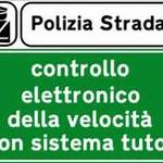 """Na svim talijanskim autocestama prije snimanje po dionicama (Tutor sistem mjerenja) istaknuta su upozorenja da vas """"prate"""" (foto: stradale it.)"""