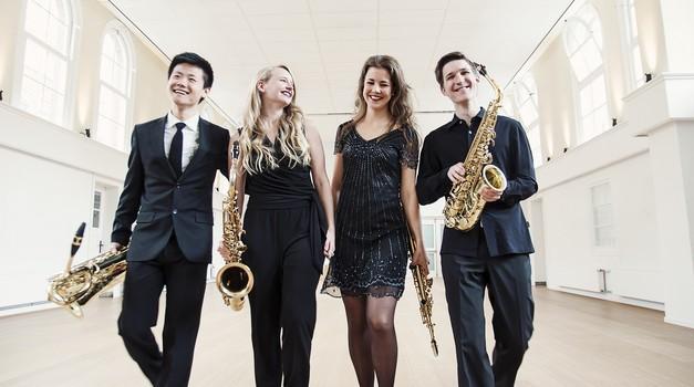 Video: Nizozemski kvartet saksofona sa Samoborcem Lovrom Merčepom oduševio u Zlatnoj dvorani na Griču