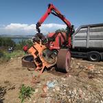 Parni valjak nakon desetljeća hrđanja napokon završio u starom željezu (foto: romeo ibrišević)