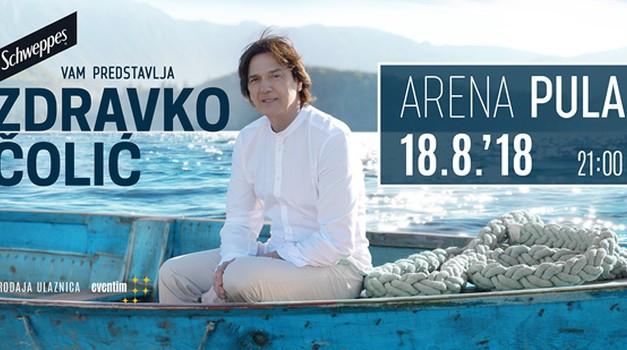 Najveća regionalna zvijezda Zdravko Čolić, održat će veliki koncert 18. kolovoza  u Areni u Puli!
