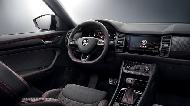 Za koji dan vrata otvara Paris Auto Show, a Škoda Kodiaq vRS je pokazala unutrašnjost i svu raskoš opreme