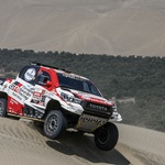 301 AL-ATTIYAH Nasser (qat); BAUMEL Matthieu (fra); Toyota; Toyota Gazoo Racing; Group T1; Class 1; Auto; action during the Dakar 2019; Stage 6; Arequipa - San Juan de Marcona; peru; on january 13 - Photo Florent Gooden.JPG (foto: Florent Goden/DPPI)