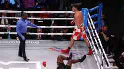 """Hrgović ekspresno u prvoj minuti prizemljio i nokautirtao 122 kg teškog Corbina - """"El Animalov"""" debi iz snova"""