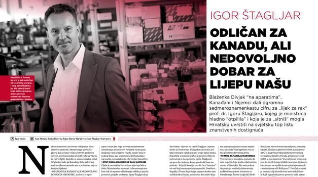"""IGOR ŠTAGLJAR, znanstvenik koji je na putu pronalaska lijeka za rak. ODLIČAN ZA KANADU, ali nedovoljno dobar za LIJEPU NAŠU HRVATSKU. Blaženka Divjak """"na aparatima"""""""