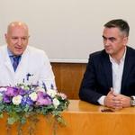 Prof. dr. sc. Goran Roić, Tomilsav Miletić, donacija, Peugeot Rifter, Klinika za dječje bolesti u Zagrebu (foto: Peugeot press)