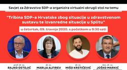 """SDP održao online tribinu pod naslovom """"Tribina SDP-a Hrvatske zbog situacije u zdravstvenom sustavu te izvanredne situacije u Splitu"""""""