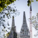 FOTO: Molitva uslišena, sjeverni toranj Katedrale težak 30 tona Hrvatska vojska tiho minirala i sigurno prizemljila (foto: Bojan Haron Markičević)
