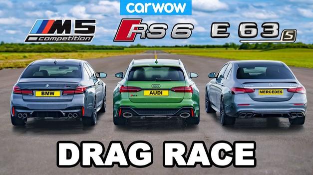 Video: Audi RS6 vs. BMW M5 vs. Mercedes-AMG E63 S